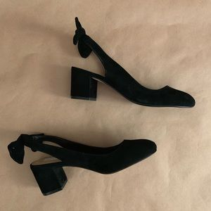 Saks Fifth Avenue | Style: Suede Bow Block Heel